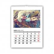 Kalendorius 21x30 cm (A4), 12 nuotraukų